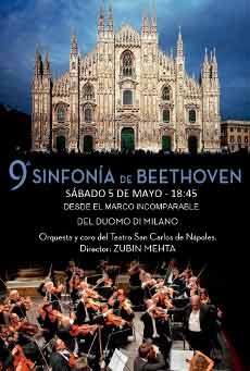 Cartel de La novena de Beethoven desde la Catedral de Milán